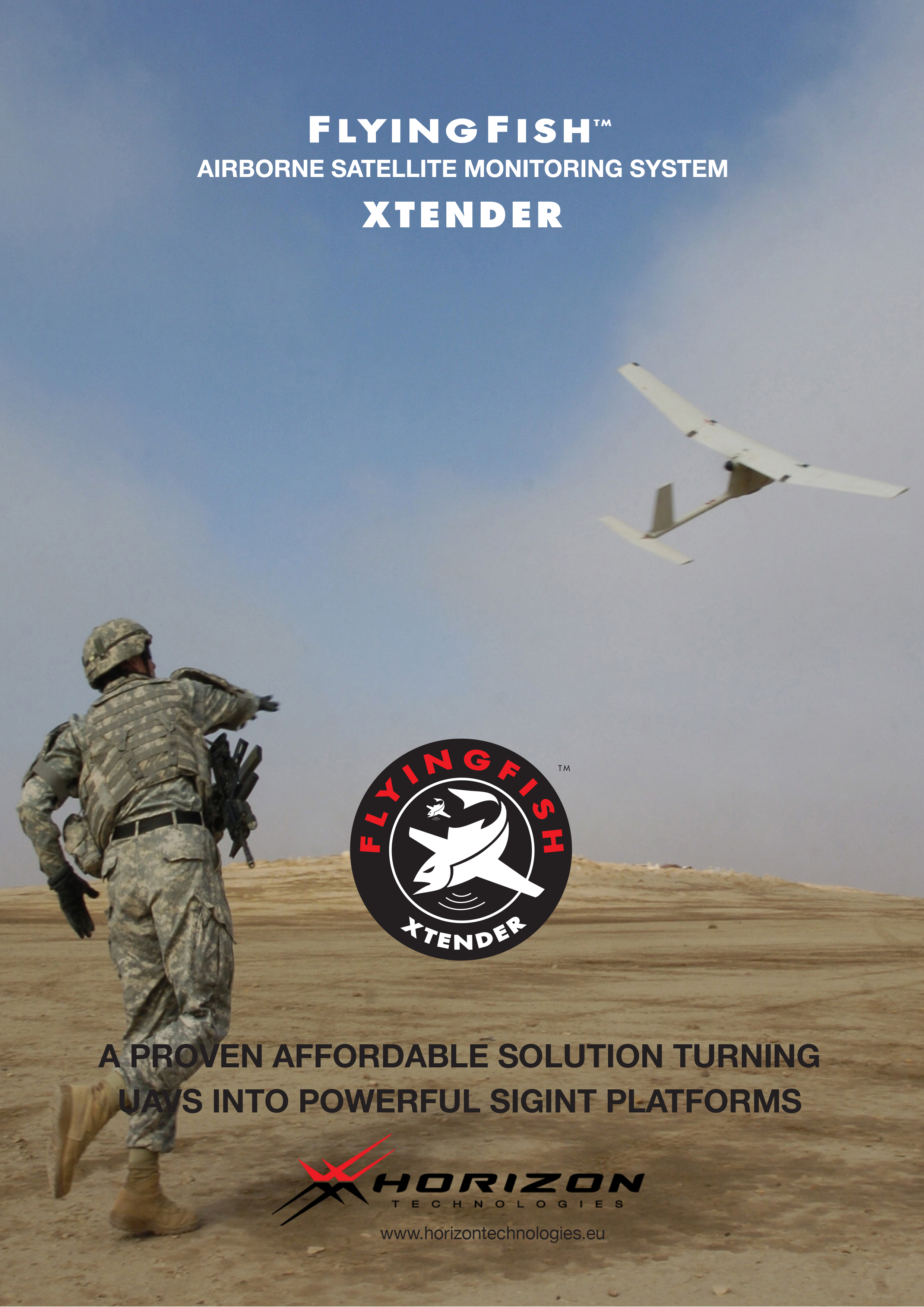 FlyingFish Xtender Airborne Satellite Monitoring System
