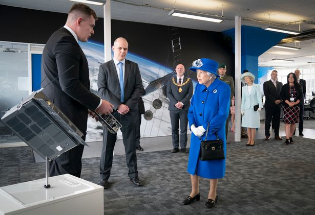 Queen Elizabeth II looks delighted with Horizon Space Technologies new Amber™ SIGINT CubeSat at our partner AAC Clyde Space offices where they revealed how the tiny devices were also being used to monitor maritime traffic and combat natural disasters