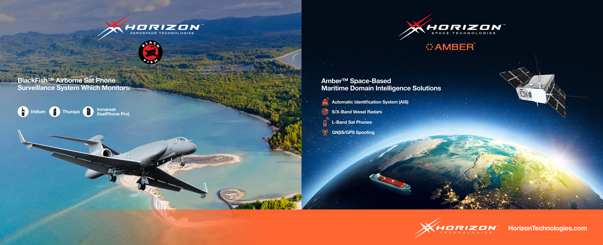 Horizon Technologies Exhibits New BlackFish™ Tri-Band SIGINT System and Amber™ Space-driven Maritime Intelligence Data Service At DSEI, 14-17 September 2021